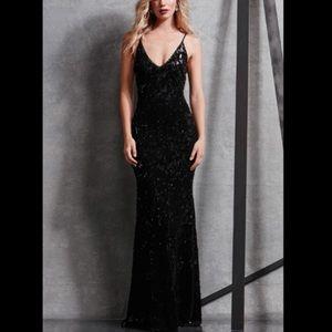 Dress the population sequin velvet slip dress